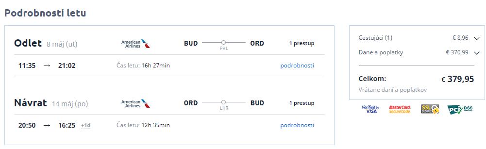 Chicago z Budapešti s letenkami od 380 eur