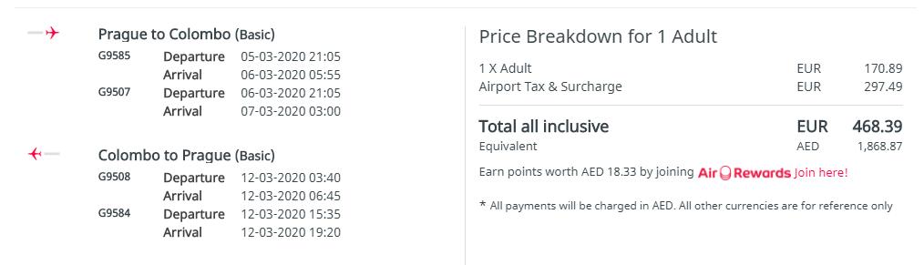 Colombo z Prahy s letenkami od 468 eur