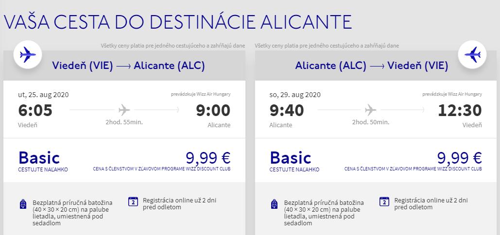 Costa Blanca koncom letných prázdnin. Alicante z Viedne už od 20 eur