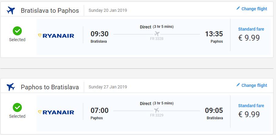 Cyprus - Paphos z Bratislavy s letenkami od 20 eur