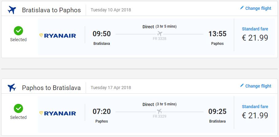 Cyprus v jarných termínoch. Paphos z Bratislavy s letenkami od 44 eur