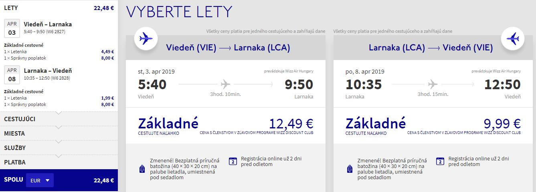 Cyprus z Viedne v jarných termínoch s letenkami od 22 eur