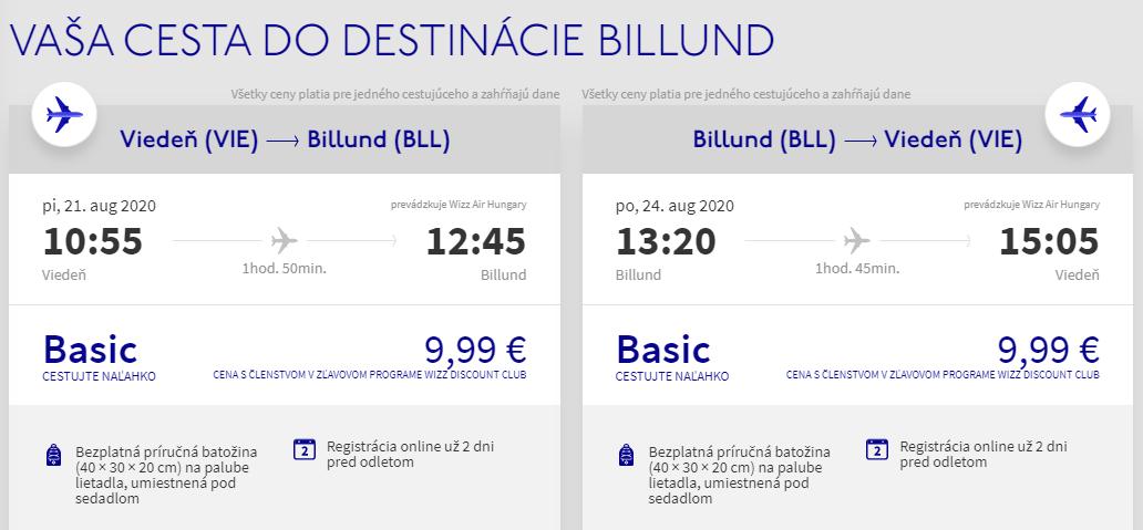 Dánsky Billund aj na predĺžený víkend. Letenky z Viedne od 20 eur