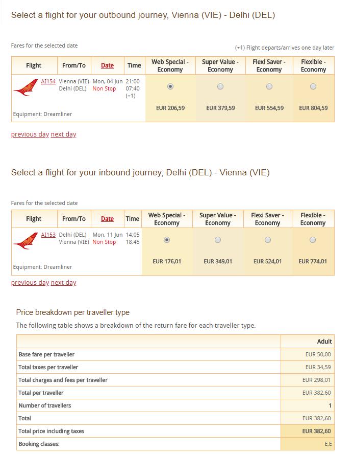 Dillí z Viedne s Air India od 383 eur