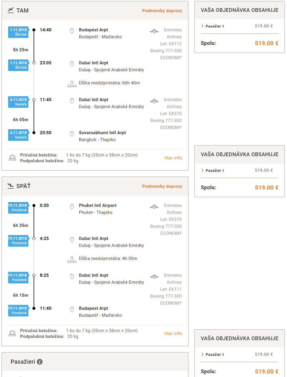 Dubaj, Bangkok a Phuket v rámci jednej cesty aj cez Vianoce s let.spoločnosťou Emirates od 519 eur