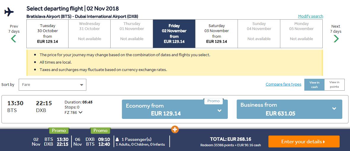 Dubaj z Bratislavy aj na predĺžený víkend s letenkami od 268 eur