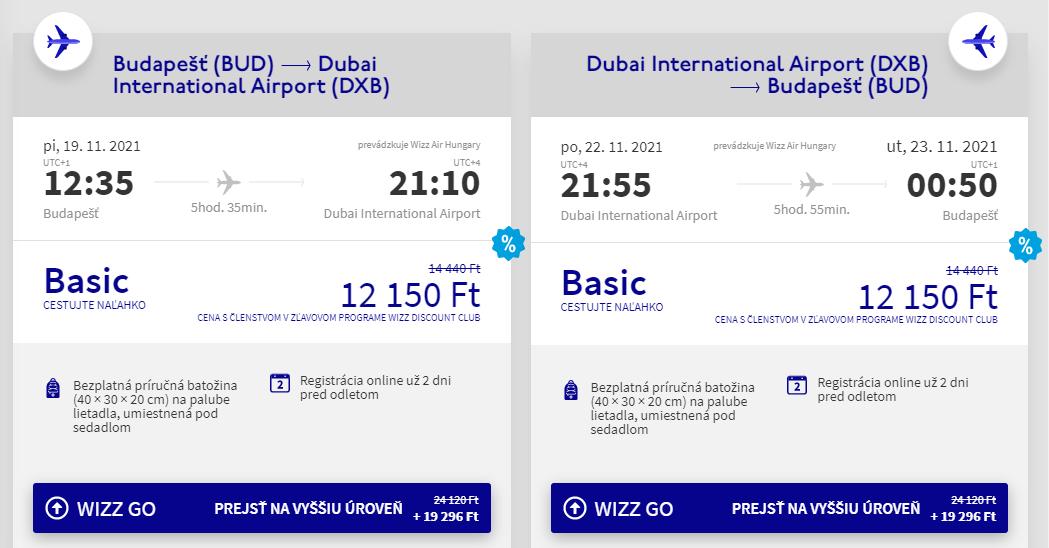 Dubaj z Budapešti aj na predĺžený víkend s letenkami od 68 eur