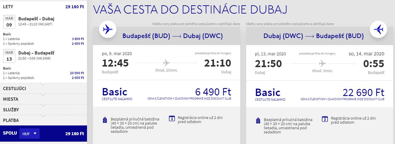 Dubaj z Budapešti s letenkami od 89 eur