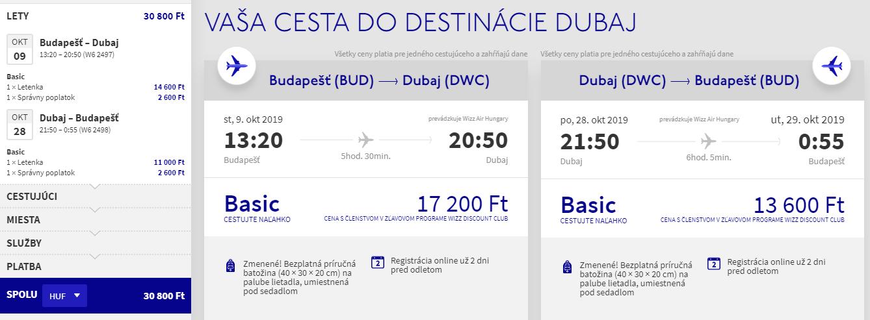 Dubaj z Budapešti v októbrových termínoch s letenkami od 95 eur