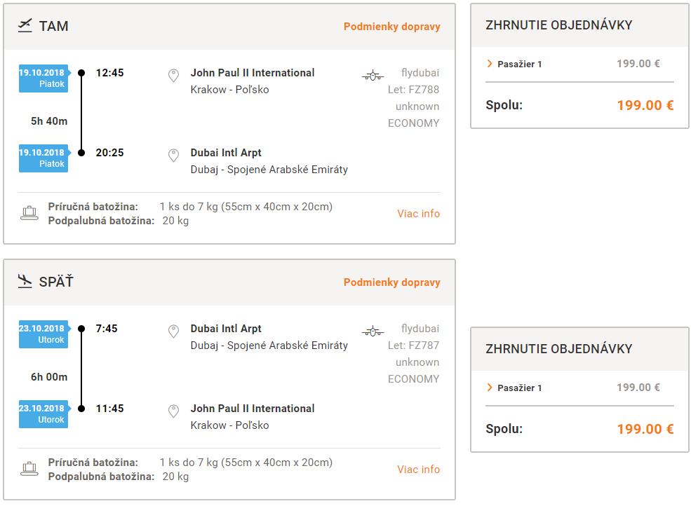 Dubaj z Krakova od 199 eur