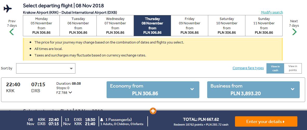 Dubaj z Krakova s letenkami po celý rok od 160 eur