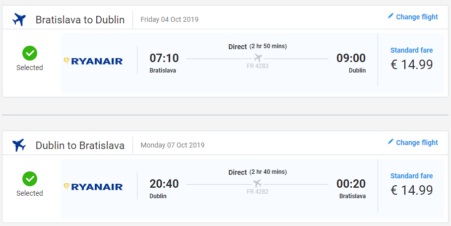 Dublin z Bratislavy aj na predĺžený víkend s letenkami od 30 eur