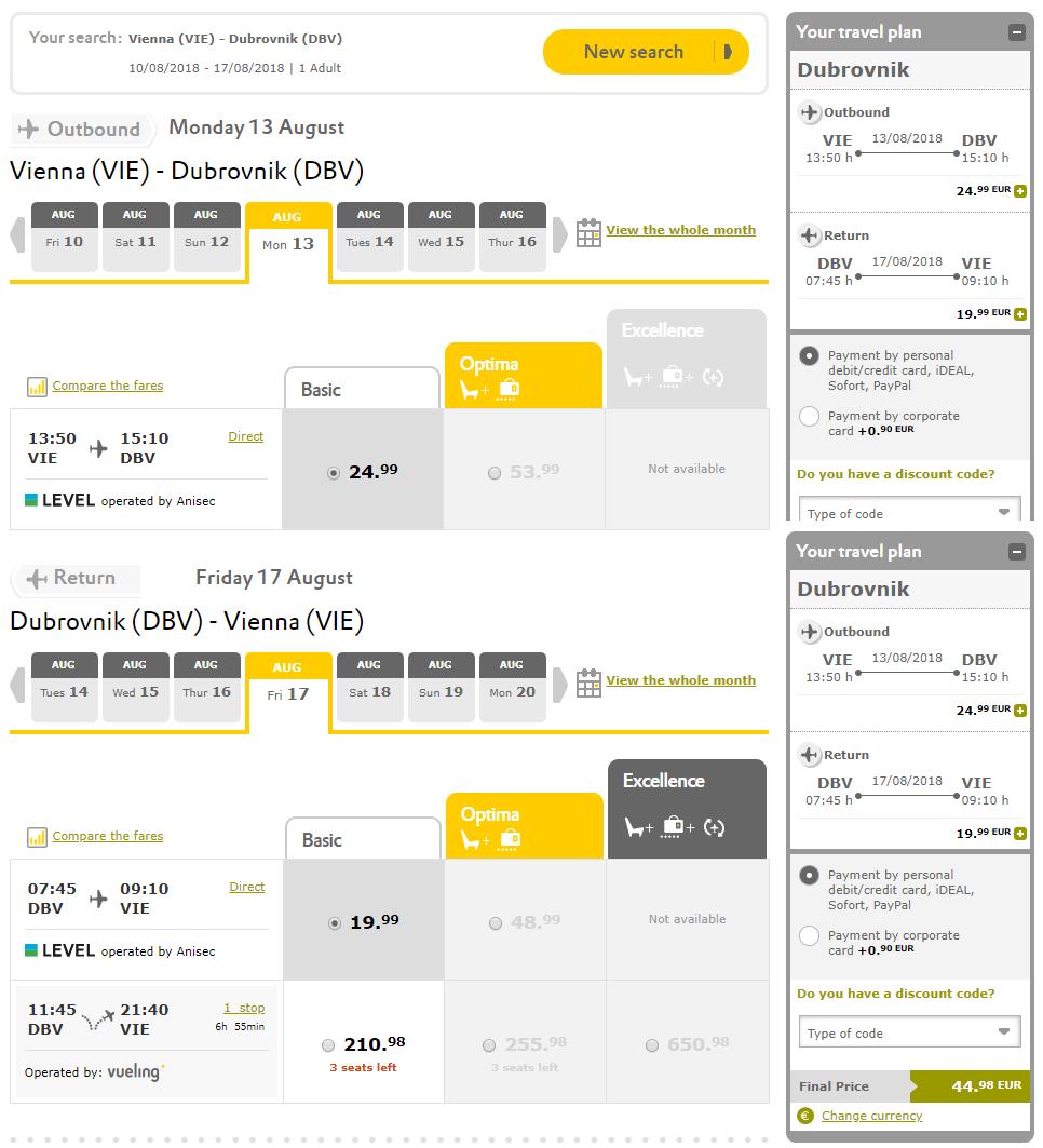 Dubrovník z Viedne cez letné prázdniny s letenkami od 45 eur