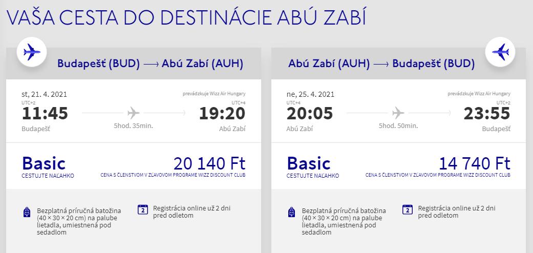 EMIRÁTY - Abú Dhabí z Budapešti s letenkami od 97 eur
