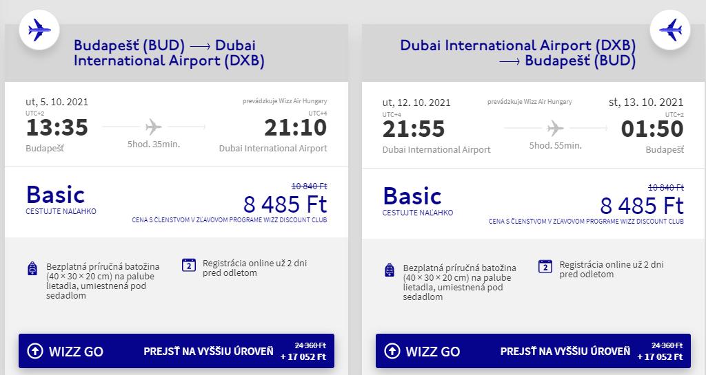 EMIRÁTY - Dubaj z Budapešti s letenkami od 49 eur
