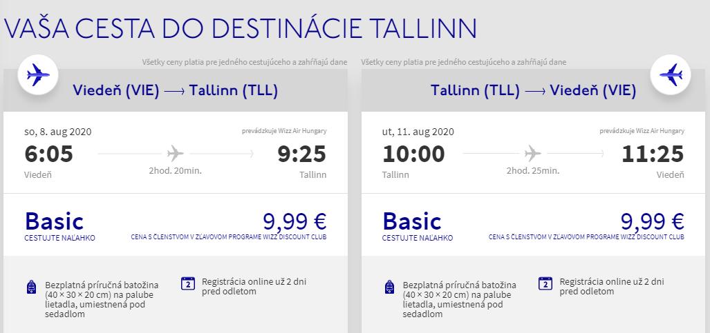 ESTÓNSKO - Tallin z Viedne počas prázdnin s letenkami od 20 eur