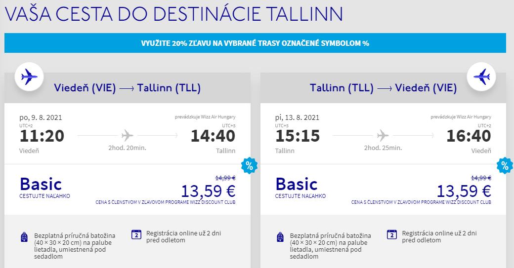 ESTÓNSKO - Tallin z Viedne počas prázdnin s letenkami od 27 eur