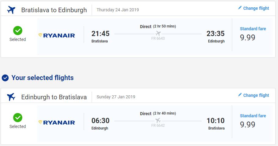 Edinburgh z Bratislavy aj na predĺžený víkend od 20 eur