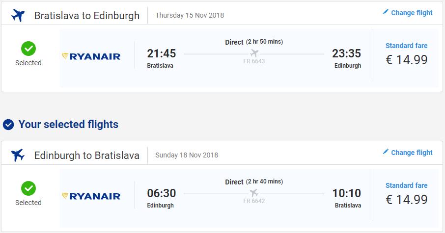 Edinburgh z Bratislavy aj na predĺžený víkend od 30 eur