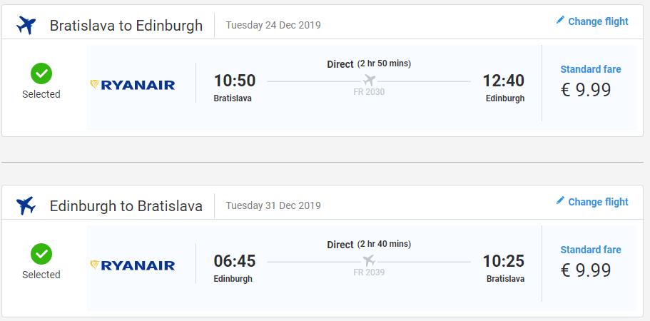 Edinburgh z Bratislavy s letenkami od 20 eur