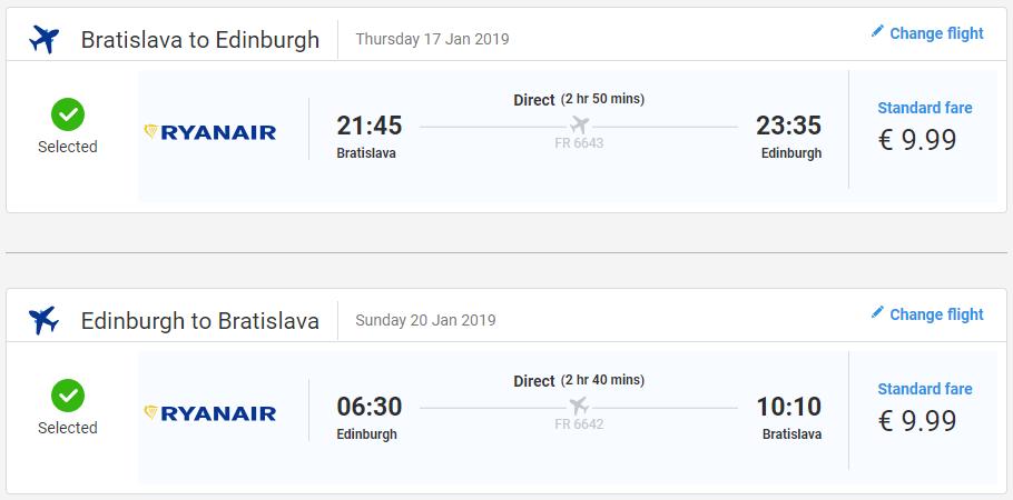 Edinburgh z Bratislavy začiatkom roka od 20 eur