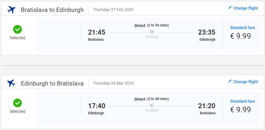 Edinburgh z Bratislavy začiatkom roka s letenkami od 20 eur