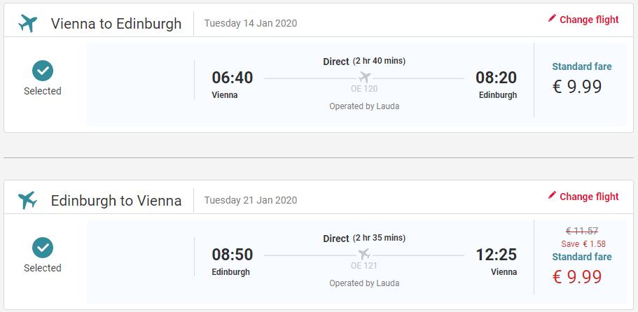 Edinburgh z Viedne s letenkami od 20 eur