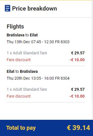 Eilat s letenkami z Bratislavy od 39 eur