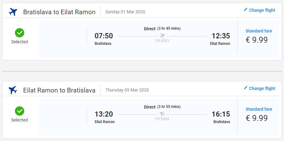 Eilat z Bratislavy s letenkami od 20 eur