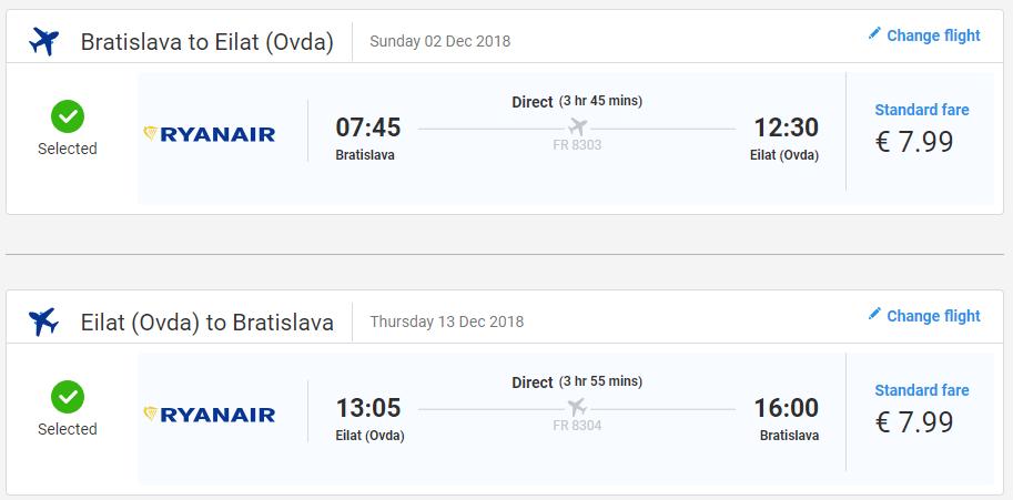 Eilat z Bratislavy s letenkami už od 16 eur