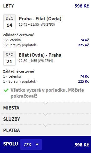 Eilat z Prahy od 23 eur