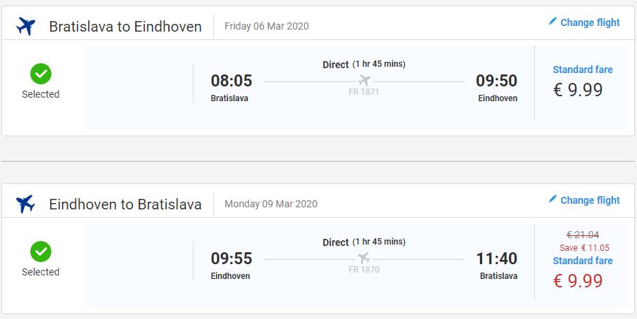 Eindhoven z Bratislavy aj na predĺžený víkend s letenkami od 20 eur