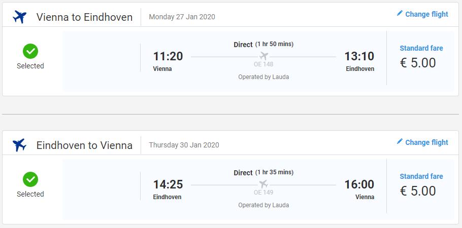 Eindhoven z Viedne s letenkami od 10 eur