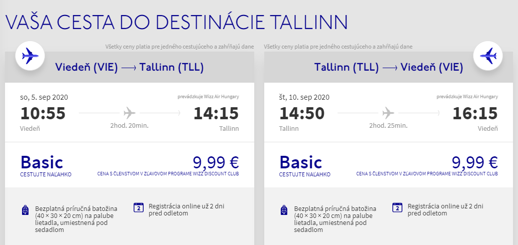 Estónsky Tallin koncom leta. Letenky z Viedne už od 20 eur