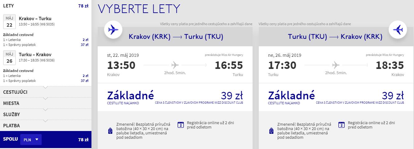 FÍNSKO - Turku z Krakova s letenkami od 18 eur
