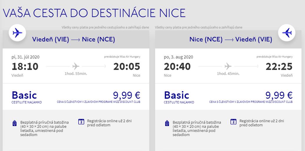 FRANCÚZSKA RIVIÉRA - Nice z Viedne aj na predĺžený víkend s letenkami od 20 eur