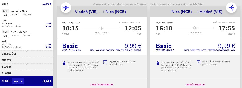 FRANCÚZSKA RIVIÉRA - Nice z Viedne začiatkom septembra od 20 eur