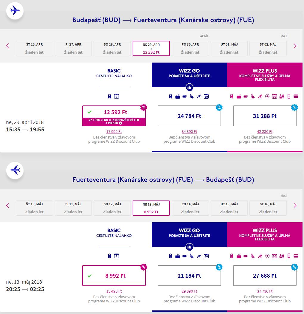 Fuerteventura z Budapešti s letenkami od 69 eur