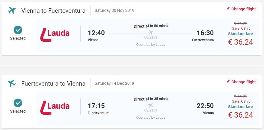 Fuerteventura z Viedne s letenkami od 72 eur