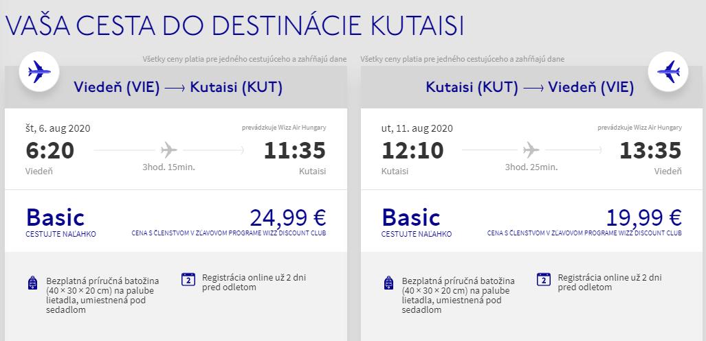 GRUZÍNSKO - Kutaisi z Viedne cez letné prázdniny s letenkami od 45 eur