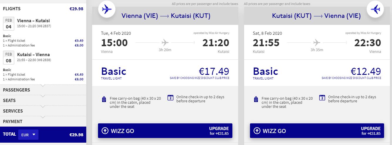GRUZÍNSKO - Kutaisi z Viedne s letenkami od 30 eur