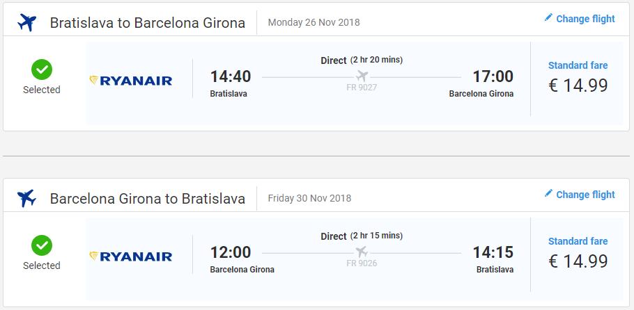 Girona s odletom z Bratislavy s letenkami od 30 eur
