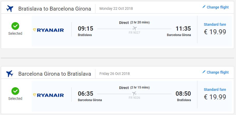 Girona s odletom z Bratislavy s letenkami od 40 eur