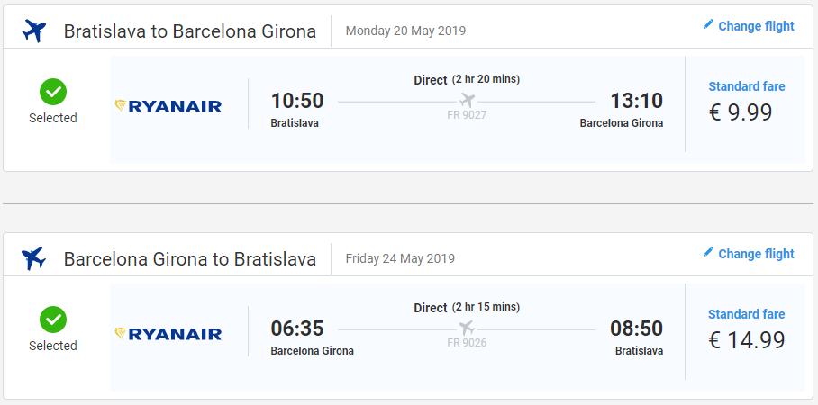 Girona z Bratislavy v májových termínoch s letenkami od 25 eur