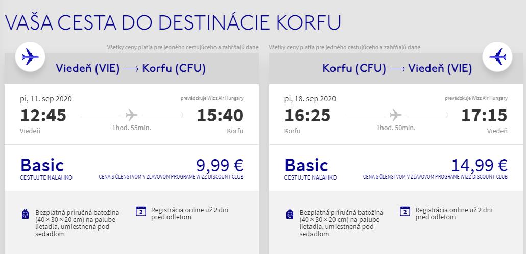 Grécke Korfu koncom leta. Letenky z Viedne od 25 eur