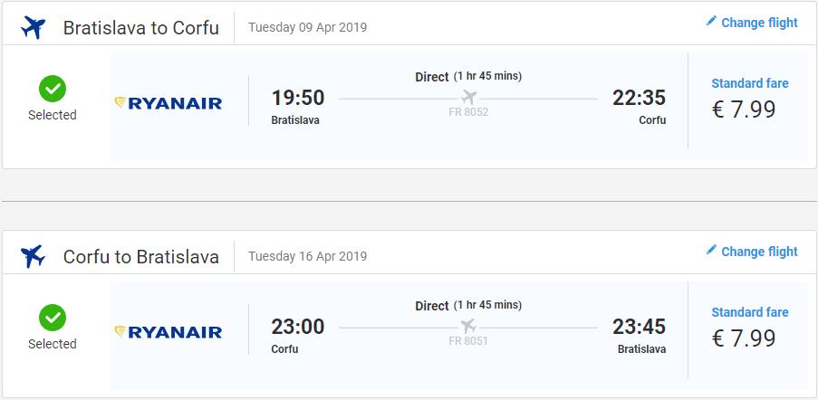 Grécke Korfu z Bratislavy začiatkom sezóny od 16 eur