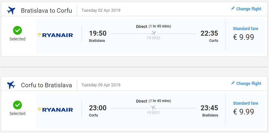 Grécke Korfu z Bratislavy začiatkom sezóny od 20 eur