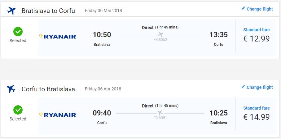 Grécke Korfu z Bratislavy začiatkom sezóny od 28 eur