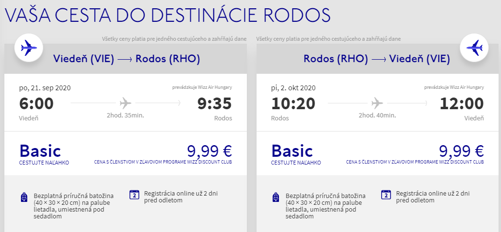 Grécky Rhodos koncom letnej sezóny s letenkami od 20 eur