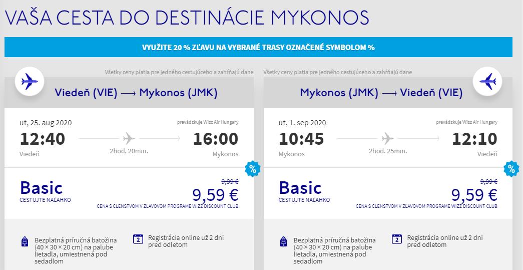 Grécky ostrov Mykonos z Viedne koncom prázdnin od 19 eur